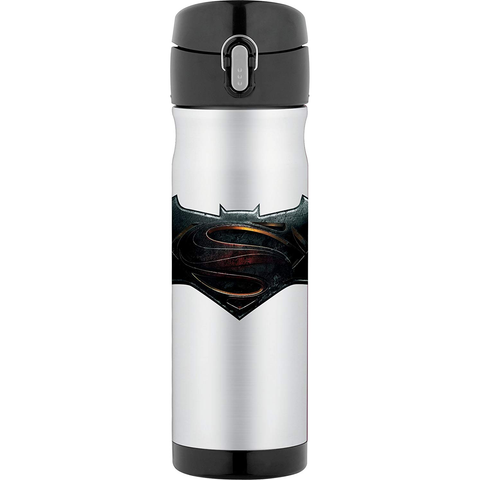 THERMOS 16-OUNCE STAINLESS STEEL COMMUTER BOOTLE - BATMAN V SUPERMAN