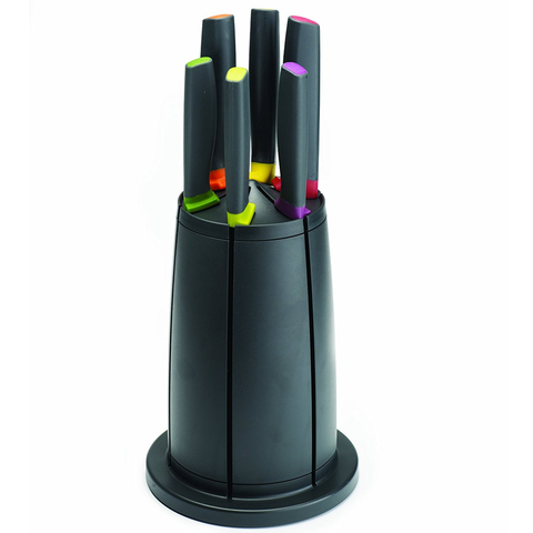 JOSEPH JOSEPH ELEVATE™ KNIVES CAROUSEL 6-PIECE KNIFE SET WITH STAND