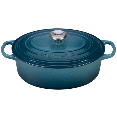 LE CREUSET 2 3⁄4-QUART OVAL DUTCH OVEN - MARINE