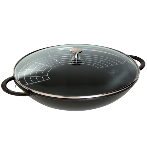 STAUB CAST IRON 6-QUART WOK - MATTE BLACK