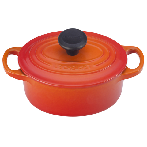 LE CREUSET 1-QUART OVAL DUTCH OVEN, FLAME