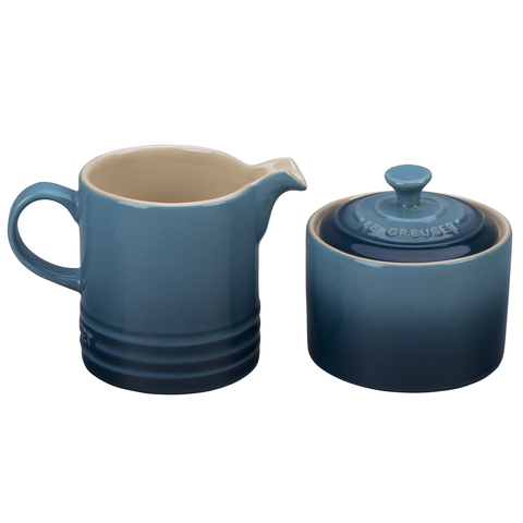 LE CREUSET CREAM AND SUGAR SET - MARINE