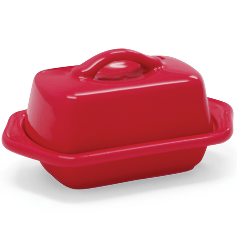 CHANTAL COUNTERTOP 5'' MINI BUTTER DISH - TRUE RED