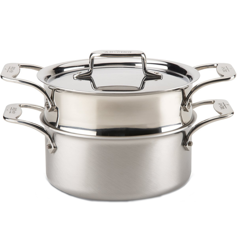 ALL-CLAD D5® STAINLESS BRUSHED 3-QUART SOUP POT WITH LID & LADLE