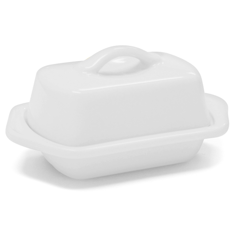 CHANTAL COUNTERTOP 5'' MINI BUTTER DISH - WHITE