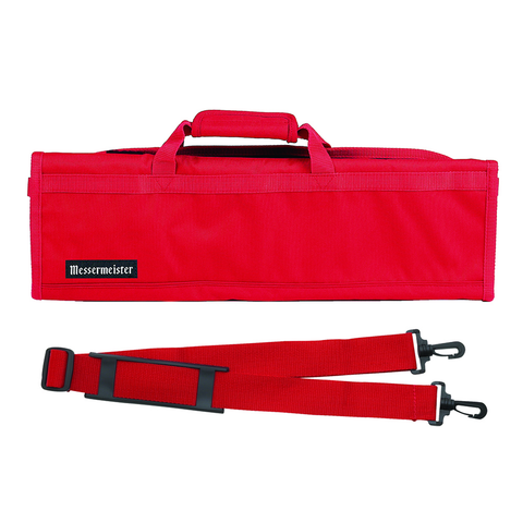 MESSERMAISTER 8-POCKET PADDED KNIFE ROLL - RED
