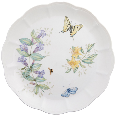 LENOX BUTTERFLY MEADOW TIGER SWALLOW TAIL DINNER PLATE