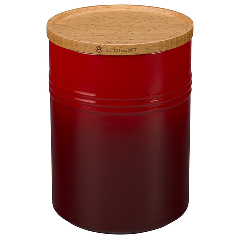LE CREUSET 4'' LARGE STORAGE CANISTER - CERISE