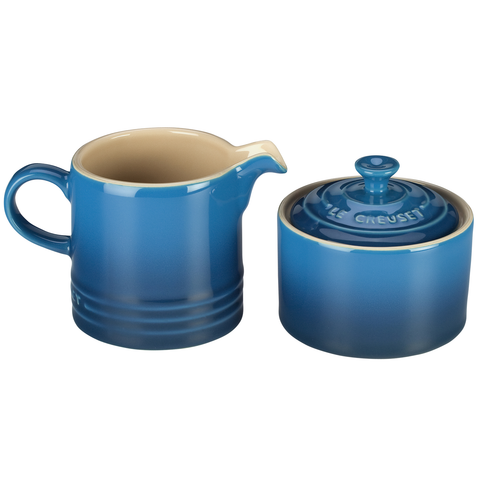 LE CREUSET CREAM AND SUGAR SET - MARSEILLE