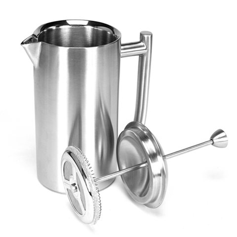 FRIELING 8-OUNCE FRENCH PRESS - BRUSHED FINISH