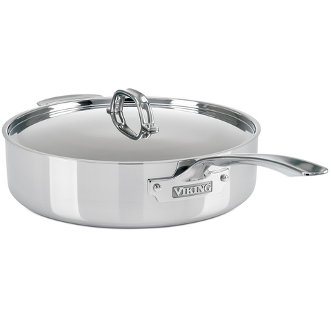 Viking 3-Ply Stainless Steel Sauté Pan, 6 Quart