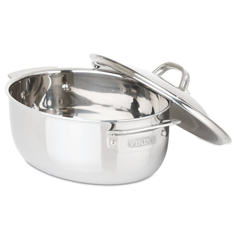Viking 3-Ply Stainless Steel 5.5-Quart Oval Dutch Oven