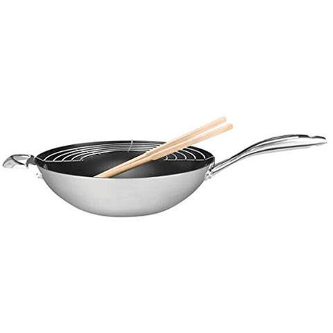 SCANPAN CTP 12.5'' WOK WITH HANDLE