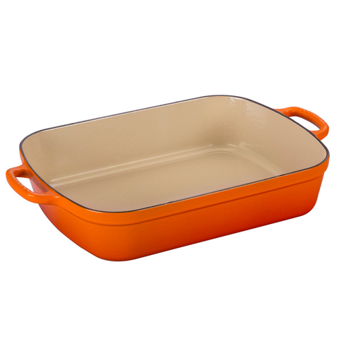 LE CREUSET 5.25-QUART SIGNATURE ROASTER - FLAME