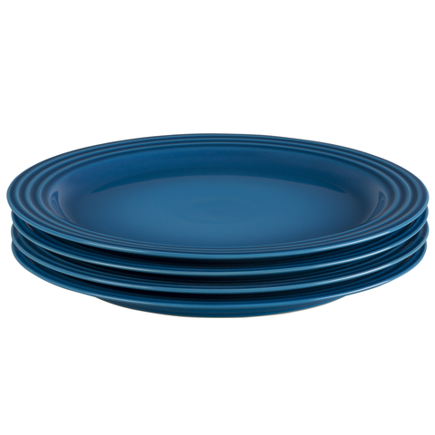 LE CREUSET 10 1/2'' DINNER PLATES, SET OF 4 - MARSEILLE
