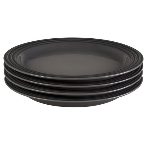LE CREUSET 10 1/2'' DINNER PLATES, SET OF 4 - OYSTER