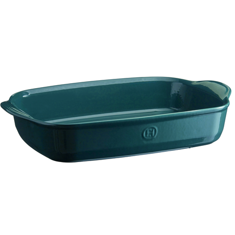 EMILE HENRY ULTIME RECTANGLE BAKING DISH, LARGE - BLUE FLAME