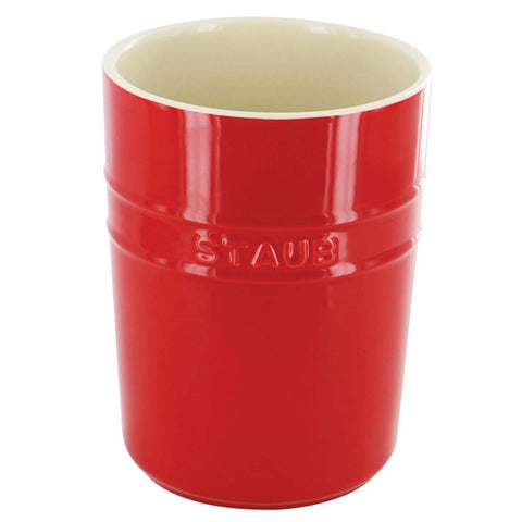 STAUB CERAMICS UTENSIL HOLDER - CHERRY