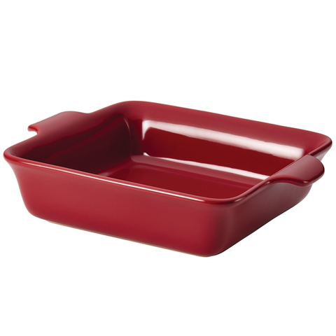 ANOLON 9-INCH SQUARE BAKER, PAPRIKA RED
