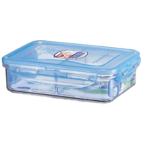 LOCK & LOCK BISFREE 18.6 FLUID RECTANGULAR CONTAINER WITH DIVIDER, 2.3 CUPS