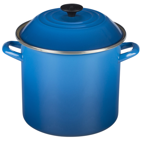 Le Creuset Enamel-on-Steel 20-Quart Covered Stockpot, Marseille
