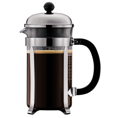 BODUM CHAMBORD 12-CUP FRENCH PRESS - CHROME