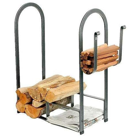 Enclume Large Fire Center Log Rack, Hammered Steel
