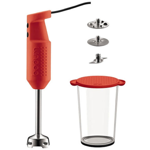 Bodum Bistro Electric Blender Stick, Red