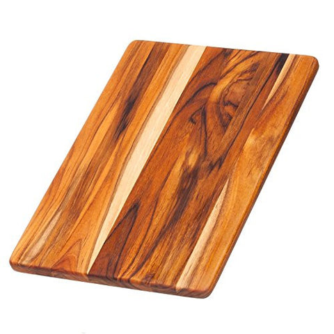 Teak Cutting Board - Rectangle Chopping And Serving Board (13.75 x 9.5 x .55 in.) - By Teakhaus