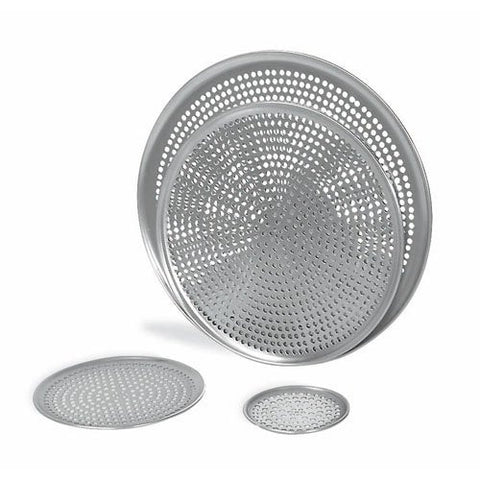 "Browne (575356) 16"" Perforated Aluminum Pizza Tray"