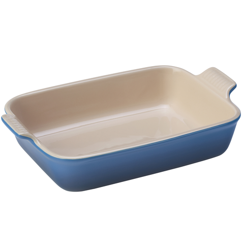 Le Creuset Heritage Stoneware 7-by-5-Inch Rectangular Dish, Marseille