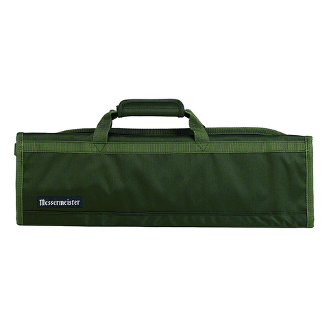 MESSERMAISTER 8-POCKET PADDED KNIFE ROLL - OLIVE