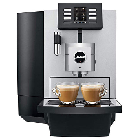 Jura X8 Platinum Automatic Espresso & Cappuccino Machine with Touch Screen, Platinum