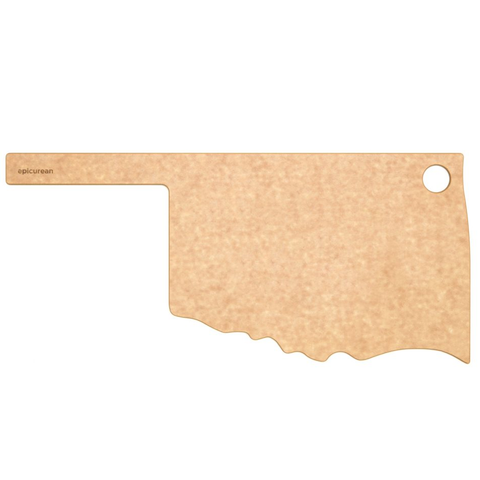 "Epicurean State of Oklahoma Cutting and Serving Board, 17'' x 8"", Natural"