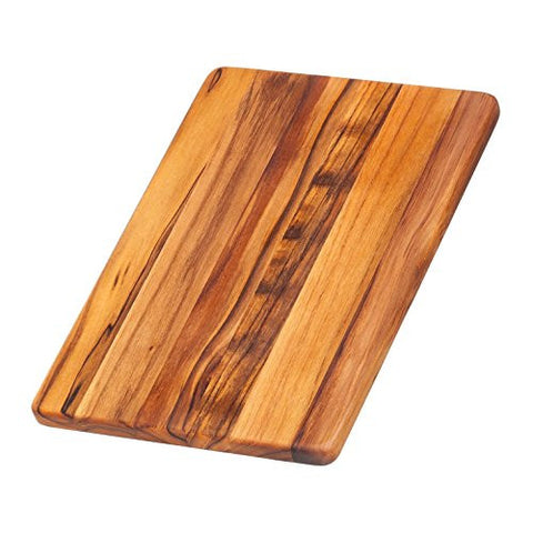 Teak Cutting Board - Rectangle Chopping And Serving Board (12 x 8 x .55 in.) - By Teakhaus