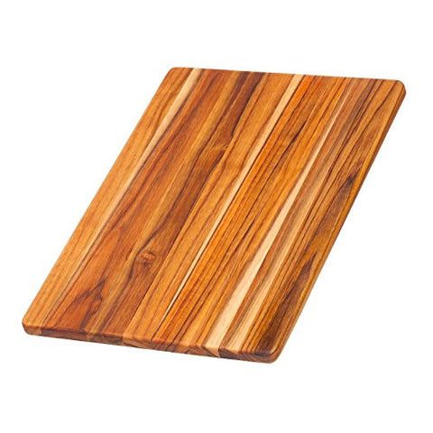 Teak Cutting Board - Rectangle Chopping And Serving Board (15.75 x 11 x .55 in.) - By Teakhaus