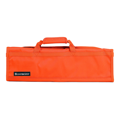 MESSERMAISTER 8-POCKET PADDED KNIFE ROLL - ORANGE