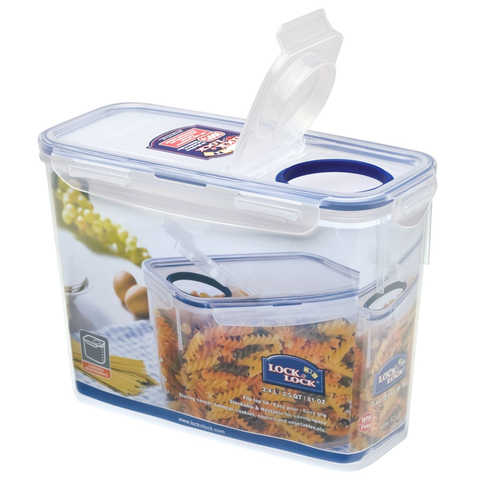 LOCK 7 LOCK CLASSICS SLENDER CONTAINER WITH FLIP LID, 2.4 LITRES