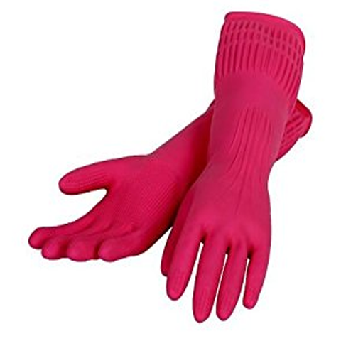 LOCK & LOCK 100% NATURAL RUBBER GLOVES LARGE