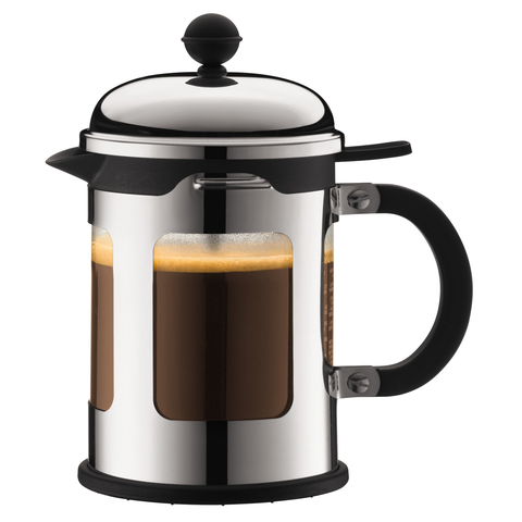 BODUM CHAMBORD 4-CUP FRENCH PRESS - CHROME