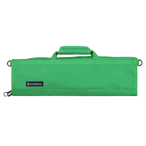 MESSERMAISTER 8-POCKET PADDED KNIFE ROLL - KELLY GREEN