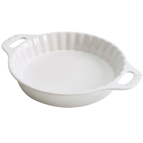STAUB CERAMIC 9'' PIE DISH - WHITE