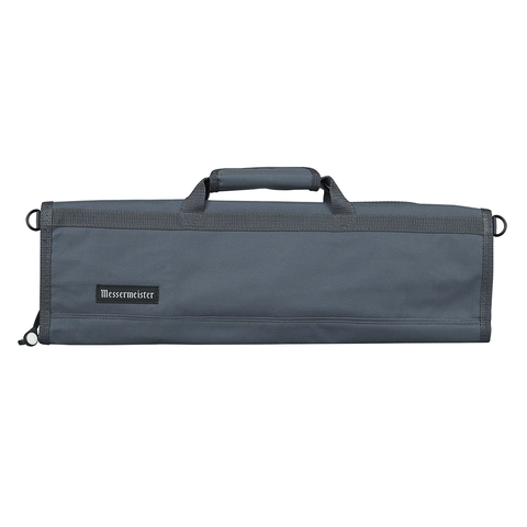 MESSERMAISTER 8-POCKET PADDED KNIFE ROLL - GRAY