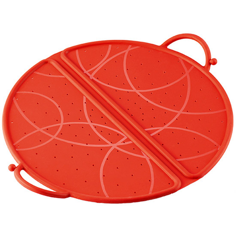 KUHN RIKON FOLDABLE SILICONE 12'' SPLATTER GUARD - RED