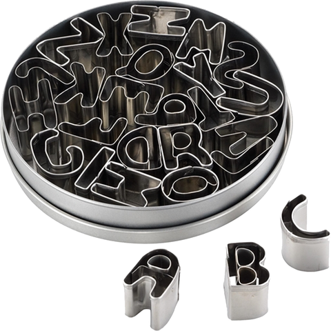 CAKE BOSS 26-PIECE ALPHABET FONDANT AND COOKIE CUTTER SET