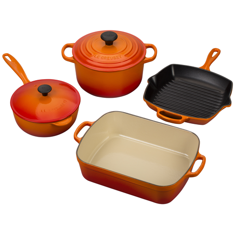 LE CREUSET 6-PIECE SIGNATURE SET - FLAME