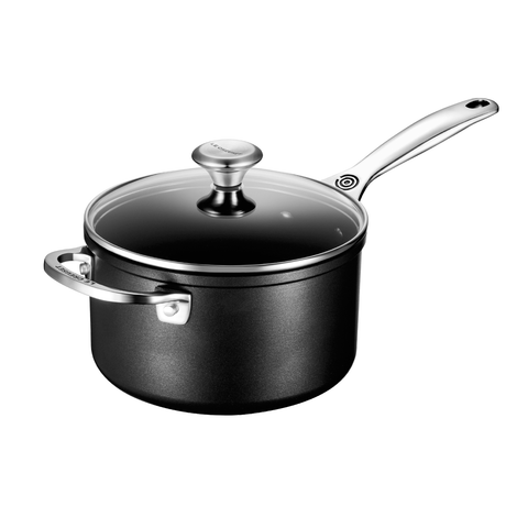 LE CREUSET 3 QUART TOUGHENED NONSTICK SAUCEPAN WITH LID