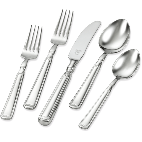 ZWILLING J.A. HENCKELS VINTAGE 1876 45-PIECE 18/10 STAINLESS STEEL FLATWARE SET