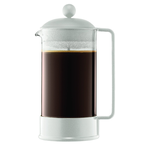 BODUM BRAZIL 8-CUP FRENCH PRESS - OFF WHITE