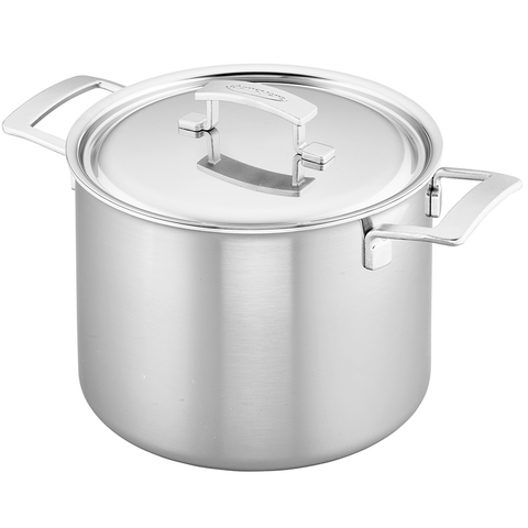 DEMEYERE INDUSTRY 5-PLY 8-QUART STAINLESS STEEL STOCK POT